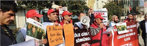 Ülker Bisküvi işçileri direnişte
