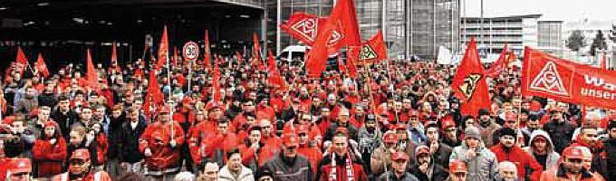 Almanya'da metal ve elektronik işçileri uyarı grevlerinde