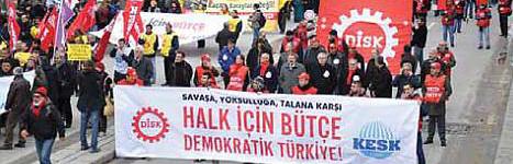 """Ankara'da """"Halk İçin Bütçe"""" mitingi"""