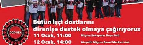 Migros işçileri DGD-SEN'de örgütleniyor