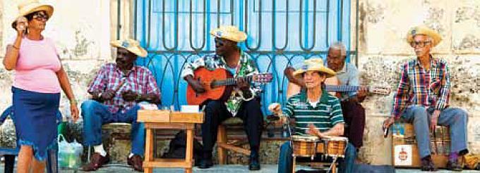Küba'da sokak müzisyenleri